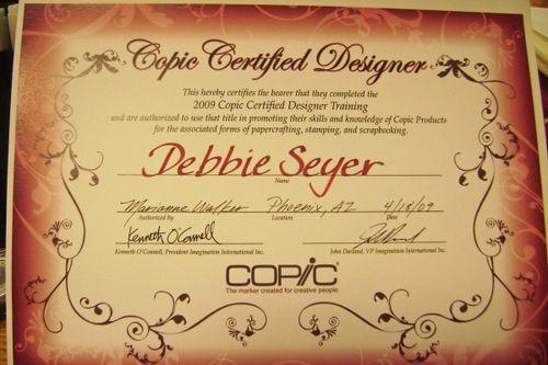 Copic-certificate