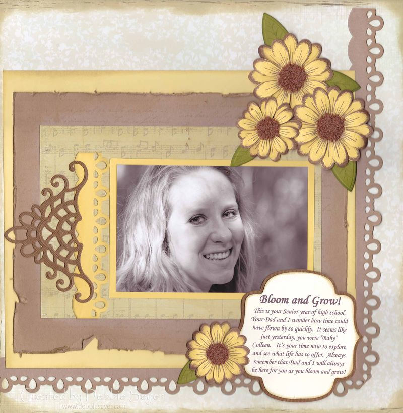 Bloom Grow Scrapbook Page