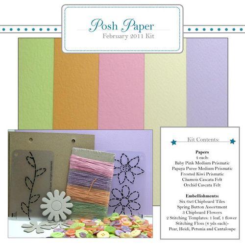 Posh paper kit february