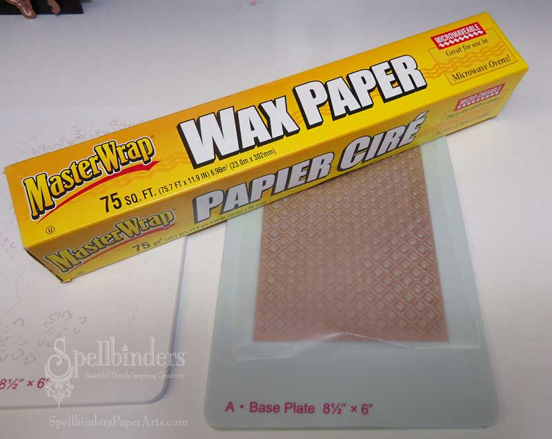 Lattice-die-with-waxed-pape