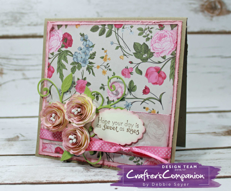 A Peek Into My Stamping Room English Country Rose Card